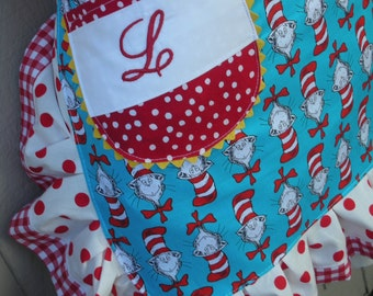 Aprons - Personalized Aprons - Does Not Include The Apron - Monogrammed -  Her Name On any Apron Pocket - Hand Embroidered Initial