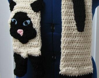 Siamense Cat Scarf Crochet Pattern