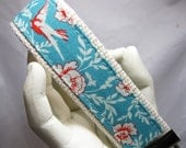 Keychain Blue Birds Wristlet Key Chain Key Fob