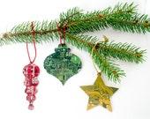 Circuit Board Ornament Gift Set - Geeky Christmas Ornaments - Computer Engineer Gift - Holiday Garland Decor - Hostess Gift
