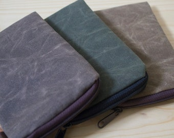 Waxed Canvas iPhone 7(plus), iPhone 6(plus), Galaxy, Note 3/4/5, Motorola Droid Maxx, Nexus 5/6, HTC One M8, Lg g, Case Sleeve Cover-Padded