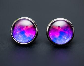 Nebula no. 04 Stud Earrings, Space Jewelry