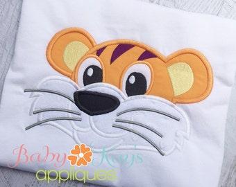 Tiger Face Applique Design 4x4, 5x7, 6x10, 8x8