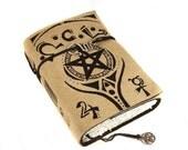 Spellbook, Journal, Leather, Handmade, Suede,