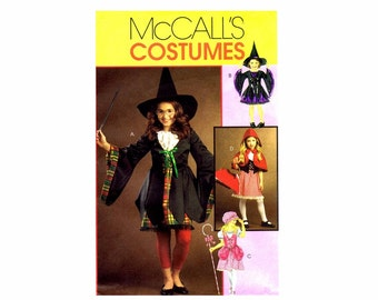 Girls Witch Harry Potter Bo Peep Red Riding Hood Halloween Costumes McCalls 5728 Sewing Pattern Size 3 - 4 - 5 - 6 UNCUT