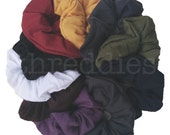 10 cotton scrunchies // rainbow colors, pastels, dark colors, neutral colors, neon, black, or black and white