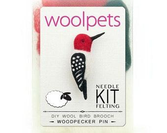 Woodpecker Pin Needle Felting Kit