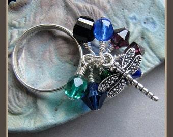 Damselfly Dragonfly Charm Ring