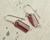 Vintage Red License Plate Earrings