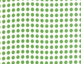 SALE - Gooseberry - Polka Dots in Cloud and Leaf: sku 5013-21 cotton quilting fabric by Lella Boutique for Moda Fabrics - 1 yard