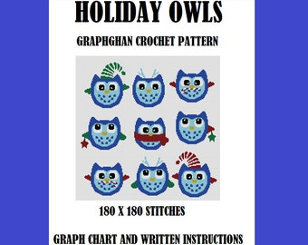 Holiday Owls - Graphghan Crochet Pattern