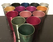 Vintage bascal aluminum tumblers set of 15 in rainbow of colors