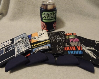 Star Wars Lot of 6 Can or Water Bottle Cozies