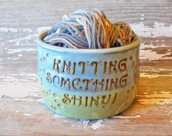 Shiny Yarn Bowl - Firefly - Handmade Pottery - Knitting - Serenity - Fandom - Glorious Geekdom
