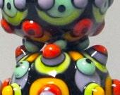 Zuma Mini Trio-Handmade Lampwork Beads