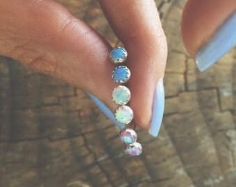Opal Glass Earrings SALE