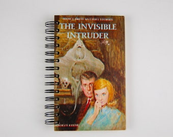 Nancy Drew and the Invisible Intruder - Recycled Book Journal -blank journal made from a recycled vintage book by Rebound Designs