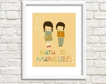Illustration Art Print., Math Poster, Kids Print, Kids Artwork, Teacher Christmas Gift