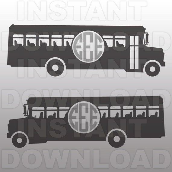 School Bus SVG FileBus Driver SVG-Cutting Template-Vector