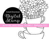 Instant Download Digi Stamp: Cup of Kindness