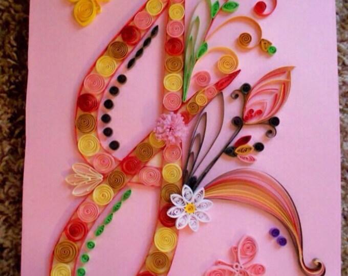 Quilling, Initial J, Butterflies, Paper Art
