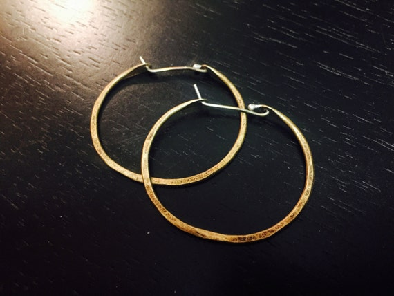 Small Brass forged hoops