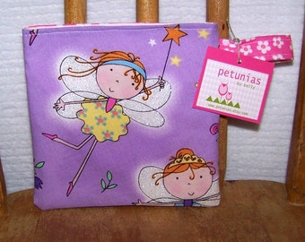 Reusable Little Snack Bag - pouch adults kids fairy eco friendly by PETUNIAS