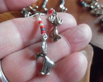 Moose Earrings Handmade with Sterling Silver Wires Maine Moose Earrings  Dangle Earrings Moose Lover Moose Jewelery