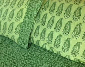 Queen or double size duvet cover, 10% off sale,  Indian kalamkari duvet, comforter cover, handmade bedding, bedroom