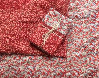 Twin size duvet cover, 10% off sale,  Indian kalamkari duvet, comforter cover,  handmade bedding, bedroom