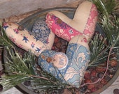 3 Primitive Rustic Floral Faux Patchwork Print February 14 Valentine Love Hearts Bowl Fillers Ornies Ornaments Tucks