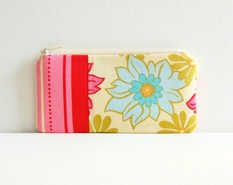 Coin Purse, Small Zipper Pouch, Cute Pink Pouch, Women and Teens, Lei in Breeze