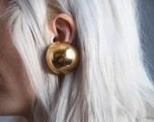 coming soon - oversized ball modernist earrings / geometric earrings / round earrings / 914a