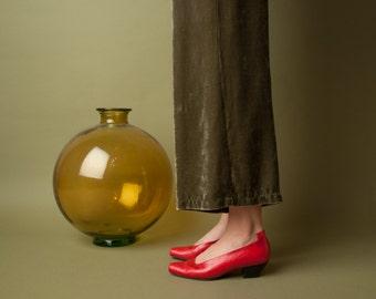 MAUD FRIZON red tab pumps / classic pumps / vtg red heels / 36.5 / 7 / 677s / B2