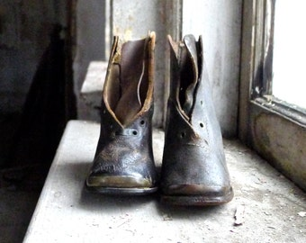 Antique Victorian Child's Boots Circa 1850s