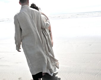 Mens Duster Coat Large L XL
