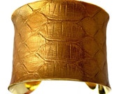 Metallic Gold Snakeskin Gold Lined Cuff - by UNEARTHED