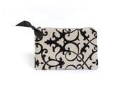 Holiday Clutch. Evening Bag. Personalized Gift. Black Velvet. Linen Clutch. Date Night Clutch. Makeup Bag. Travel Pouch. Purse. Clutch. Bag