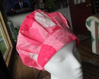 Joyful Garden Bouffant Style...............Surgical Hat....Bakers Hat