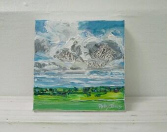 Cisco original mixed media acrylic landscape painting