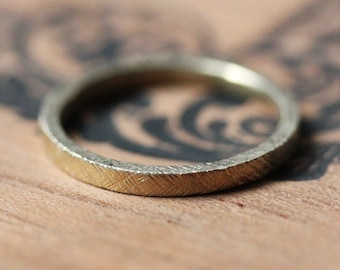 18k gold wedding band, thin wedding band, rustic wedding ring, 2mm wedding band, womens wedding ring, textured wedding band, custom made
