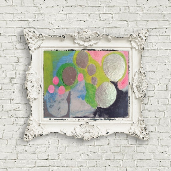 Abstract Art Abstract Painting Collage Geometric Original Canvas Pastel Neon Pink contemporary Art Mixed Media Modern Fun Happy Art Painting
