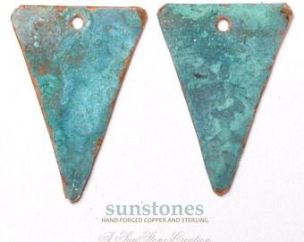 Handmade Rustic Copper Earring Components - 2 pieces EC227