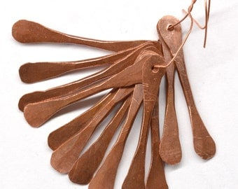 Hand Forged Copper Twigs, Dangles, Fringe - 12 Pieces JC316