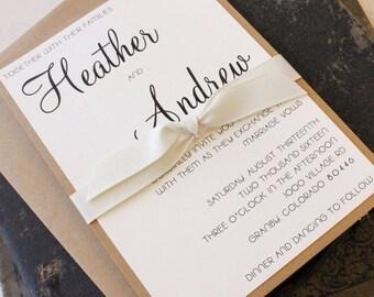 Modern Wedding Invitation - Design Fee
