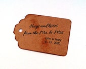 Hugs and Kisses Tags, wedding tags, gift tags, wedding favor, bridal shower favor, Mr and Mrs tags