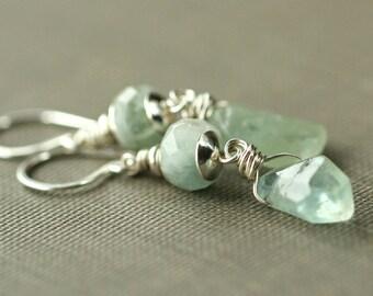 Aquamarine Earrings, Drop Earrings, Gemstone Earrings, Aquamarine Jewelry, Aquamarine, Dangle Earrings, Gemstone Jewelry, amelie