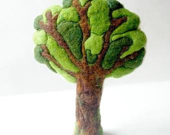 Summer Tree: Handmade Wool and Silk Tree CUSTOM MADE (for Natural or Seasonal Table, Waldorf Inspired)