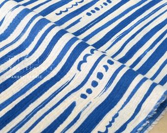 Japanese Fabric Kokka stripes and dots gauze - A - 50cm