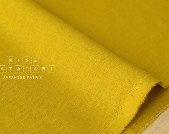 Japanese Fabric Kokka Tayutou solids - mustard - fat quarter